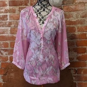 3 for 12 NY & Co semi-sheer blouse